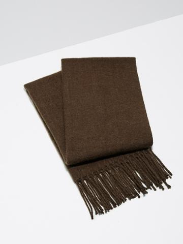 Frank + Oak Wool-blend Scarf In Camel