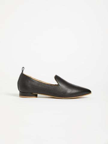 Frank + Oak The District Small-heeled Leather Loafer - Black