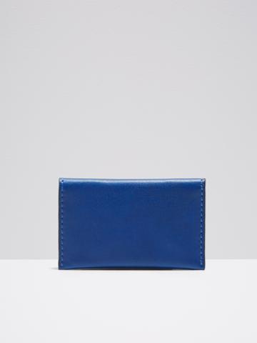 Frank + Oak Leather Bifold Wallet In Cobalt