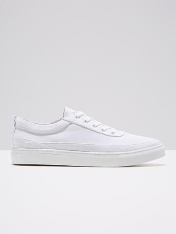 Frank + Oak Canvas Shoe In White