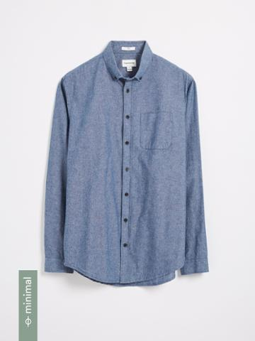 Frank + Oak The Odessa Organic Chambray Shirt - Blue
