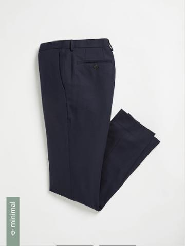 Frank + Oak The Laurier Washable Wool Suit Trousers - Navy