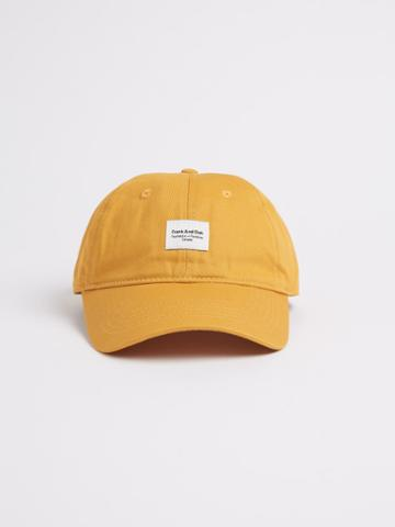 Frank + Oak Washed Cotton Cap In Yellow