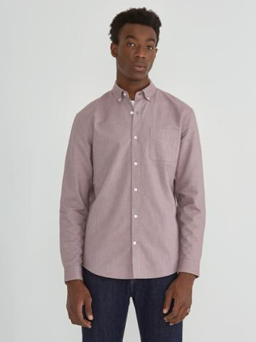 Frank + Oak The Jasper Oxford Shirt In Taupe