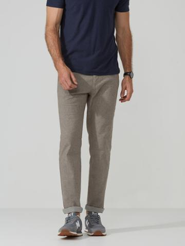 Frank + Oak The Lincoln Linen Pant In Taupe