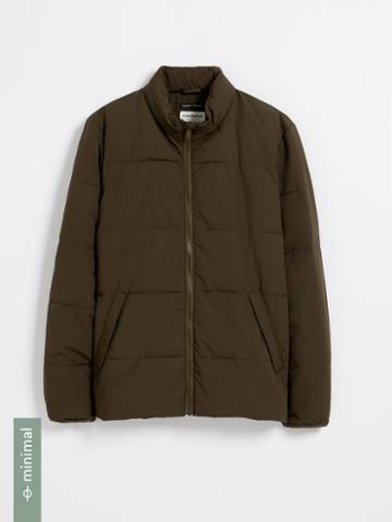 Frank + Oak Cyclone Packable Puffer With Recycled Thinsulate In Dark Olive
