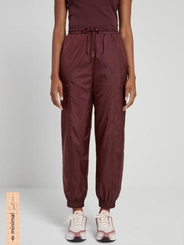 Frank + Oak La Coupe: Baggy High-waisted Track Pants In Maroon
