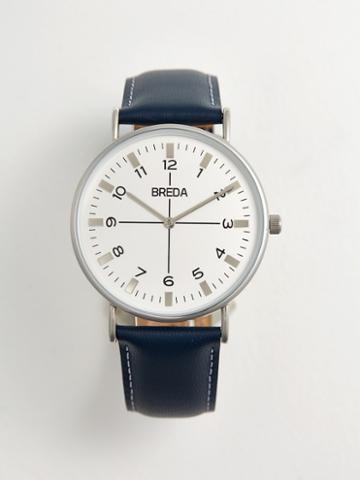 Frank + Oak Breda Watch - Belmont In Silver/navy