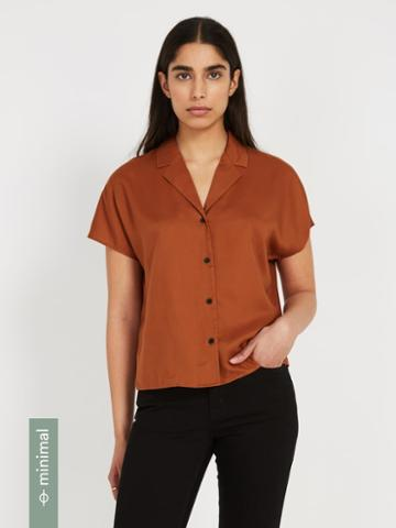Frank + Oak The Tencel Everyday Camp Collar Blouse - Ginger