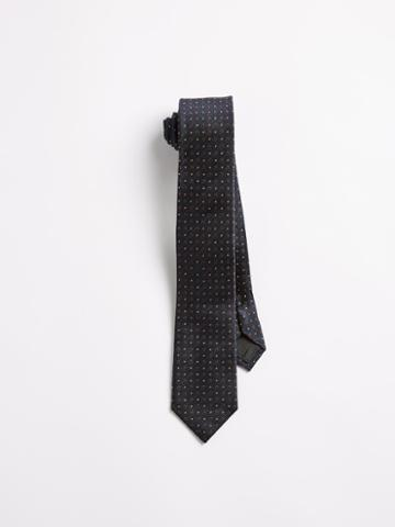 Frank + Oak Silk Geo Dandy Print Slim Tie - Navy