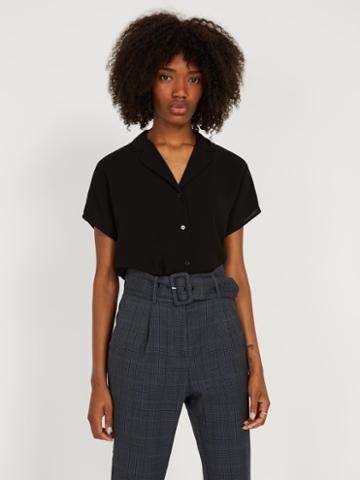 Frank + Oak Camp Collar Crepe Blouse