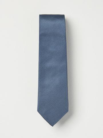 Frank + Oak Grosgrain Silk Tie In Steel Blue