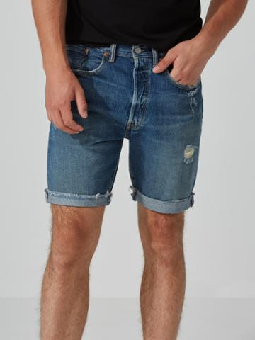 Frank + Oak Levi's 501 Ct Shorts In Medium Indigo