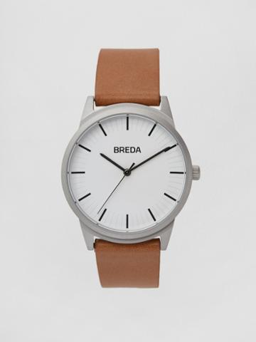Frank + Oak Breda Watch - Bresson In Silver/brown
