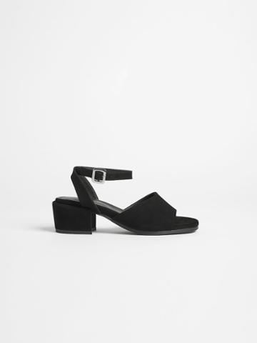 Frank + Oak The Medina Heel Sandal In True Black