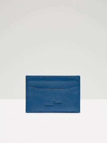 Frank + Oak Leather Card Holder In Blue