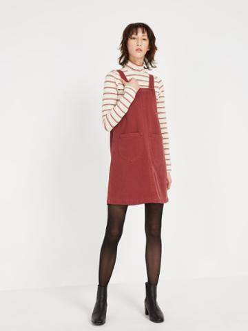 Frank + Oak Denim Pinafore - Roan Rouge