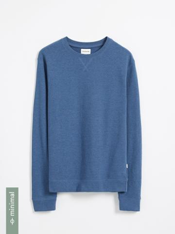 Frank + Oak Organic Cotton And Recycled Polyester Terry Crewneck - Blue