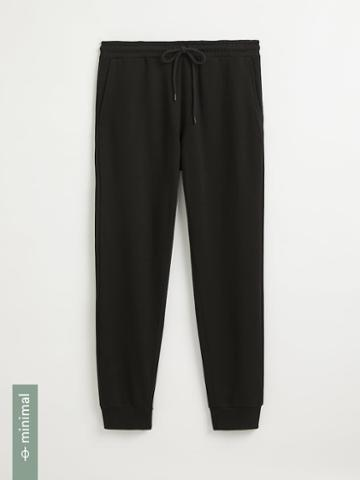 Frank + Oak Organic Cotton Terry Jogger In True Black