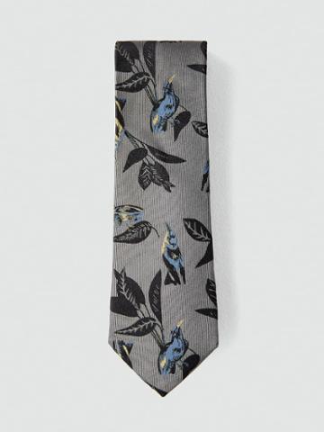Frank + Oak 2.5 Silk Bird Motif Tie