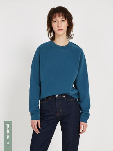Frank + Oak The Organic Cotton Gym Fleece Crewneck - Teal