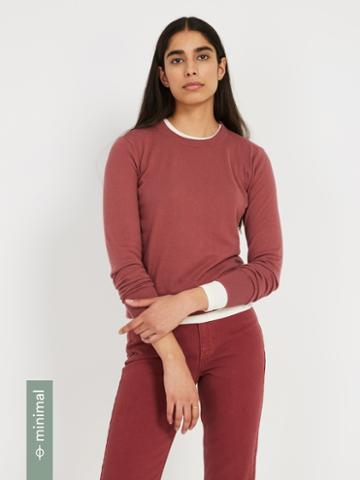 Frank + Oak Organic-recycled-cotton-blend Crewneck Sweater - Roan Rouge