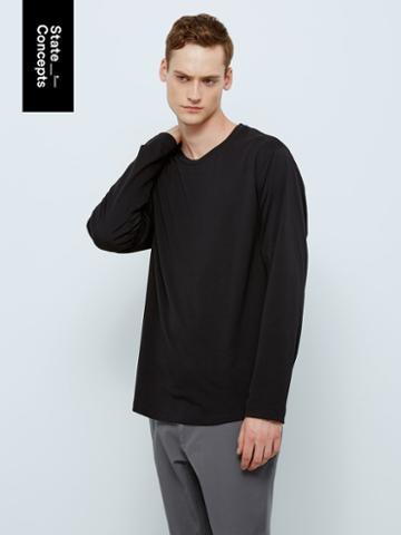 Frank + Oak Sc Drirelease Long-sleeve T-shirt In True Black