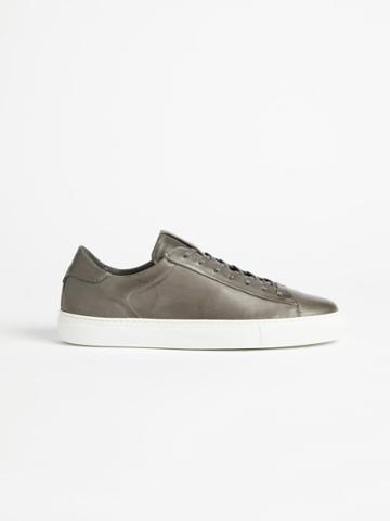 Frank + Oak The Park Leather Low-top Sneaker - Grey/white