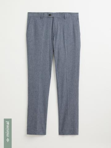 Frank + Oak The Laurier Organic Cotton-linen Dress Pants In Smoke Blue