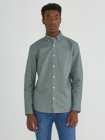 Frank + Oak The Jasper Oxford Shirt In Green