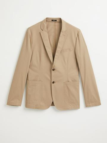 Frank + Oak The Laurier Cotton Blazer In Dune