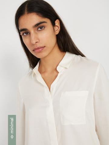 Frank + Oak The Tencel Everyday Blouse - Bright White
