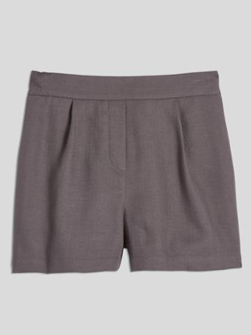 Frank + Oak Pull On Tencel Short In Dark Purple