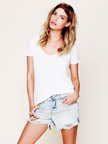 Free People Fp Denim Cut Off Shorts - Summer Sky 25