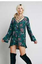 Fp Collection Womens Heart Beat Printed Tunic