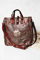 Campomaggi Womens Moonshine Metallic Leather Tote