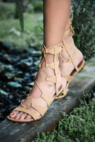 Schutz Womens Lina Lace Up Sandal