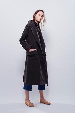 Free People Womens Maxi Swing Trench