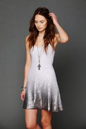 Free People Womens Ombre Foil Dress