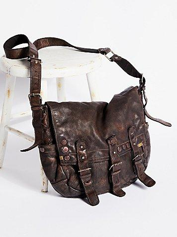 Free People Glade Leather Messenger