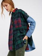 Rainbow Rays Plaid Buttondown By Free People