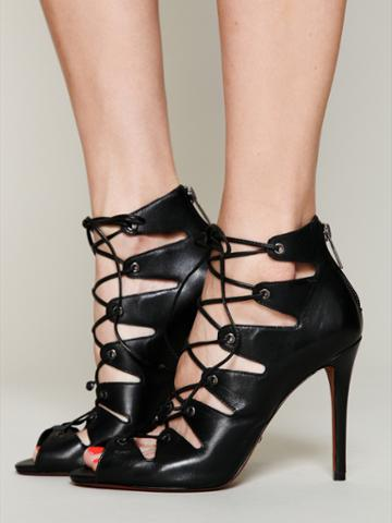 Schutz Slate Lace Up Heel At Free People