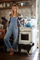 Free People Womens Davis Slouchy Overall