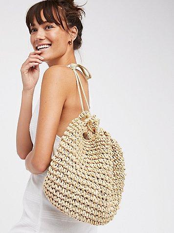 Getaways Straw Backpack By Gracie Roberts
