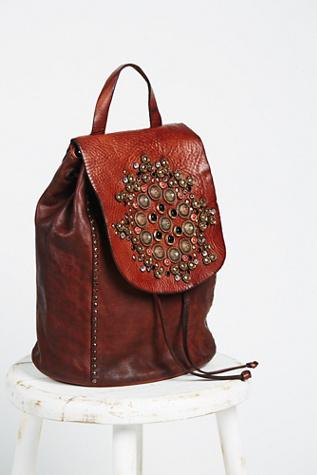 Campomaggi Womens Sacra Studded Backpack