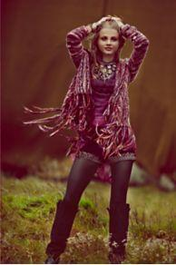 Short Fringe Cardigan At Free People