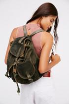 Free People Womens Washed Canvas Backpack