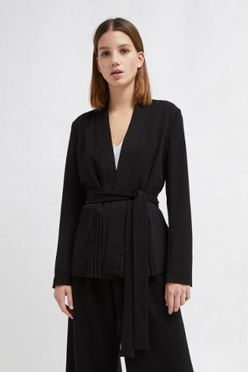 French Connenction Angeline Drape Belted Jacket