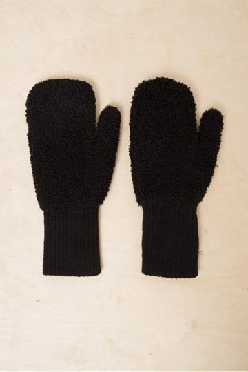 French Connenction Capta Shearling Mittens