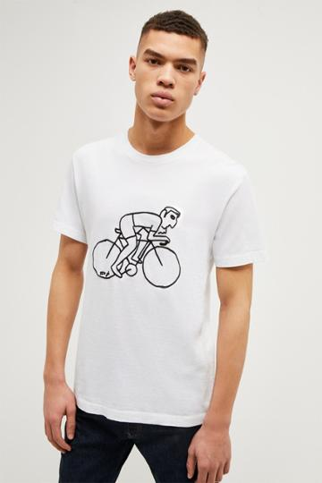 French Connenction Cyclist Graphic T Shirt